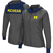 Colosseum Women's Michigan Wolverines Charcoal Backside Hooded Jacket