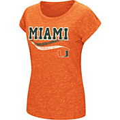 Colosseum Women's Miami Hurricanes Orange Speckled Yarn T-Shirt
