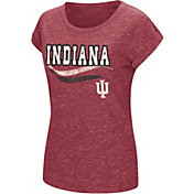 Colosseum Athletics Women's Indiana Hoosiers Crimson Speckled Yarn T-Shirt