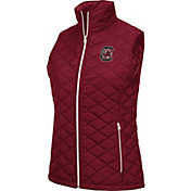 Colosseum Women's South Carolina Gamecocks Garnet Elite Quilted Full-Zip Vest