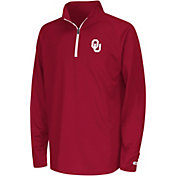 Colosseum Youth Oklahoma Sooners Crimson Draft Performance Quarter-Zip