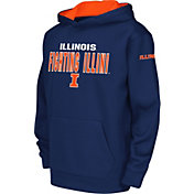 Colosseum Youth Illinois Fighting Illini Blue Fleece Hoodie