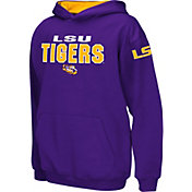 Colosseum Boys' LSU Tigers Purple Pullover Hoodie