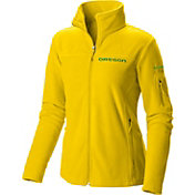 Columbia Women's Oregon Ducks Yellow Give and Go Full-Zip Fleece