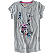 Carhartt Little Girls' Flower Deer Short Sleeve T-Shirt