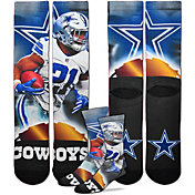 For Bare Feet Dallas Cowboys Ezekiel Elliott Player Crew Socks