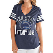 G-III For Her Women's Penn State Nittany Lions Blue The Big Game V-Neck T-Shirt