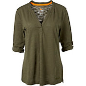 Field & Stream Women's Y-Neck Long Sleeve Shirt