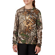 Field & Stream Youth Long Sleeve Tech Camo Tee