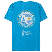 Fifth Sun Men's FIFA 2018 World Cup Russia Argentina Contrast Round Blue T-Shirt