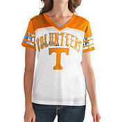 G-III For Her Women's Tennessee Volunteers White/Tennessee Orange Free Agent V-Neck T-Shirt