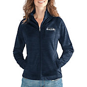 G-III for Her Women's Seattle Seahawks Hand Off Navy Full-Zip Jacket