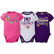 Gerber Infant Girl's Minnesota Vikings 3-Piece Onesie Set