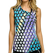 Jamie Sadock Women's Violetta Printed Sleeveless Golf Polo
