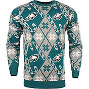 KLEW Men's Philadelphia Eagles Candy Cane Ugly Sweater