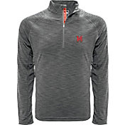 Levelwear Men's Maryland Terrapins Grey Mobility Quarter-Zip Long Sleeve Shirt