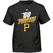 Majestic Boys' Pittsburgh Pirates Loud Speakers Black T-Shirt