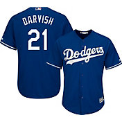 Majestic Men's Replica Los Angeles Dodgers Yu Darvish #21 Cool Base Alternate Royal Jersey