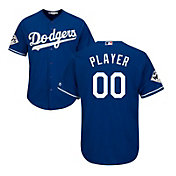 Majestic Men's Full Roster Replica 2017 World Series Los Angeles Dodgers Cool Base Alternate Royal Jersey
