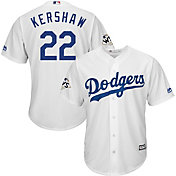 Majestic Men's 2017 World Series Replica Los Angeles Dodgers Clayton Kershaw Cool Base Home White Jersey