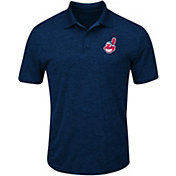 Majestic Men's Cleveland Indians Cool Base Navy Polo