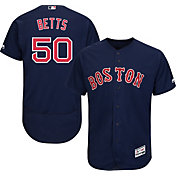 Majestic Men's Authentic Boston Red Sox Mookie Betts #50 Flex Base Alternate Navy On-Field Jersey