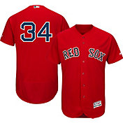 Majestic Men's Authentic Boston Red Sox David Ortiz #34 Flex Base Alternate Red On-Field Jersey