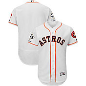 Majestic Men's 2017 World Series Champions Authentic Houston Astros Flex Base Home White On-Field Jersey