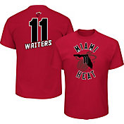 Majestic Men's Miami Heat Dion Waiters #11 Red T-Shirt
