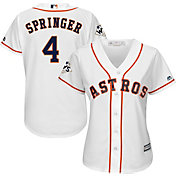 Majestic Women's 2017 World Series Replica Houston Astros George Springer Cool Base Home White Jersey