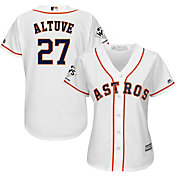 Majestic Women's 2017 World Series Champions Replica Houston Astros Jose Altuve Cool Base Home White Jersey
