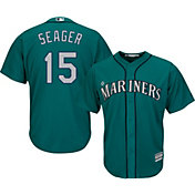 Majestic Youth Replica Seattle Mariners Kyle Seager #15 Cool Base Alternate Teal Jersey