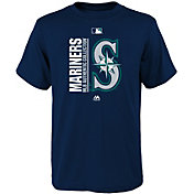 Majestic Youth Seattle Mariners Authentic Collection Navy T-Shirt