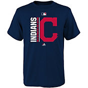 Majestic Youth Cleveland Indians Authentic Collection Navy T-Shirt