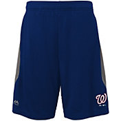 Majestic Youth Washington Nationals Cool Base Rally Navy Performance Shorts