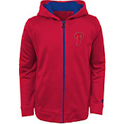 Majestic Youth Philadelphia Phillies Club Series Red Full-Zip Hooded Fleece