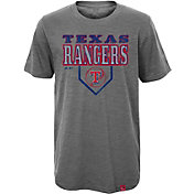 Majestic Youth Texas Rangers Heirloom Grey T-Shirt