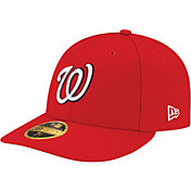 New Era Men's Washington Nationals 59Fifty Game Red Low Crown Authentic Hat
