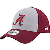 New Era Men's Alabama Crimson Tide Grey/Crimson The League Blocked 9FORTY Adjustable Hat