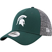 New Era Men's Michigan State Spartans Grey Fierce Fill 39Thirty Stretch Fit Hat