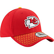 New Era Men's Kansas City Chiefs Sideline 2017 On-Field 39Thirty Stretch Fit Hat