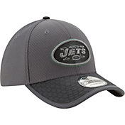 New Era Men's New York Jets Sideline 2017 39Thirty Graphite Stretch Fit Hat