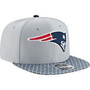New Era Men's New England Patriots Sideline 2017 On-Field 9Fifty Snapback Adjustable Hat