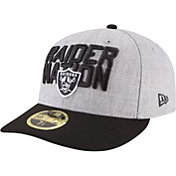 New Era Men's Oakland Raiders 2018 NFL Draft 59Fifty Fitted Grey Hat