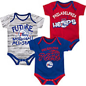 NBA Infant Philadelphia 76ers 3-Piece Onesie Set