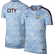 Nike Mens Manchester City Breathe Squad Light Blue Training Shirt