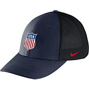 Nike Men's USA Hockey Crest Structured Navy Flex Hat