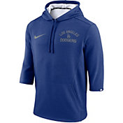 Nike Men's Los Angeles Dodgers Three-Quarter Sleeve Hooded Fleece Pullover