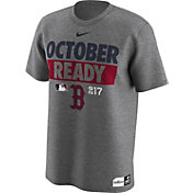Nike Men's Boston Red Sox 2017 MLB Postseason Dri-FIT Authentic Collection 'October Ready' Grey T-Shirt