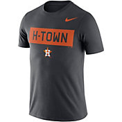Nike Men's Houston Astros Dri-FIT 'H-Town' Grey T-Shirt